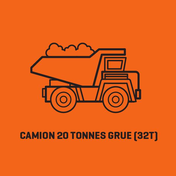 Camion Grue 20 Tonnes (32T) - Location - Consultez nos tarifs | Lusoloc