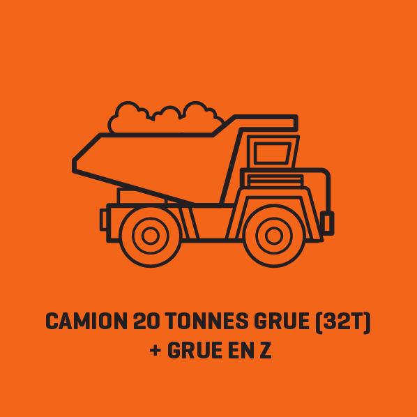 Camion 20 Tonnes Grue (32T) + Grue EN Z - Location   Lusoloc